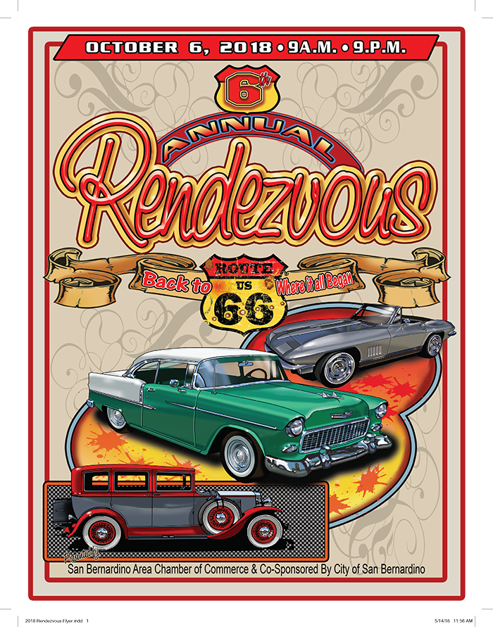Th Annual Rendezvous Back To Route Car Show Downtown San - Riverside casino car show