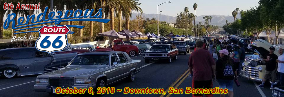 Th Annual Rendezvous Back To Route Car Show Downtown San - Route 66 car show