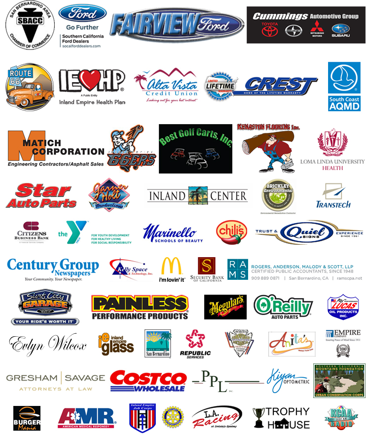 Rendezvous Back to Route 66 Sponsors - 2014